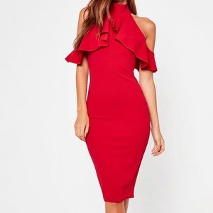 Missguided High Neck Dress